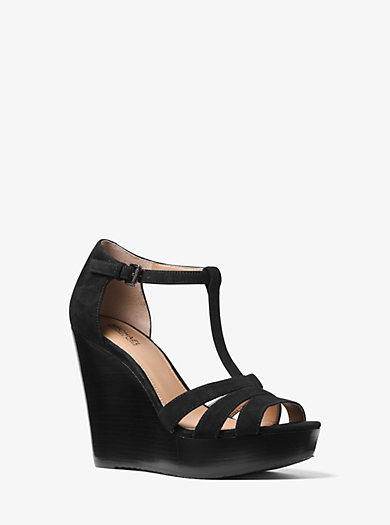 Sable Suede Wedge by Michael Kors