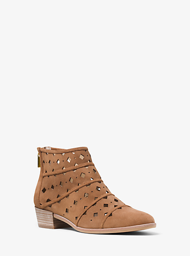 Uma Perforated Suede Ankle Boot  by Michael Kors