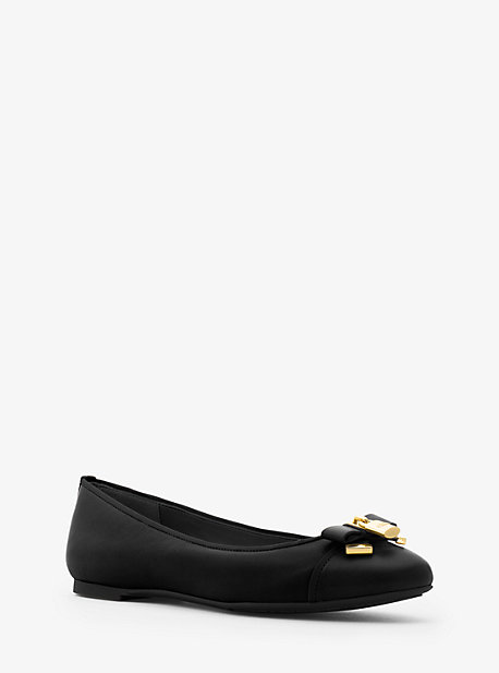 MICHAEL MICHAEL KORS Alice Leather Ballet Flat in Black