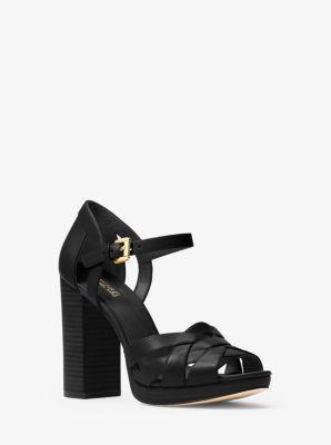 Annaliese Leather Platform Sandal by Michael Kors