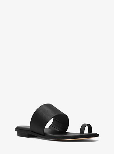 Sonya Leather Sandal by Michael Kors