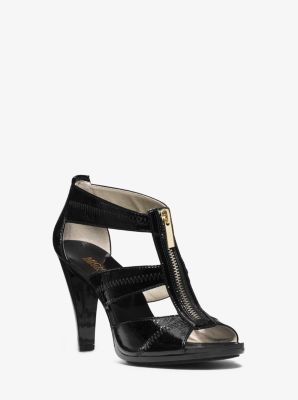 Berkeley T-Strap Leather Pump by Michael Kors