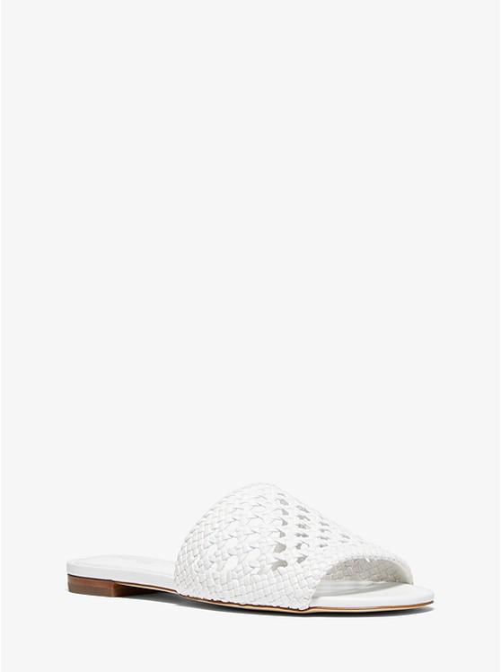 Augustine Woven Slide Sandal | Michael Kors