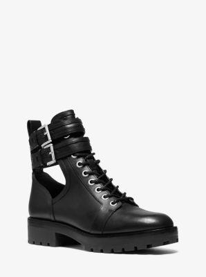 마이클 마이클 코어스 Michael Michael Kors Bensen Leather Combat Boot