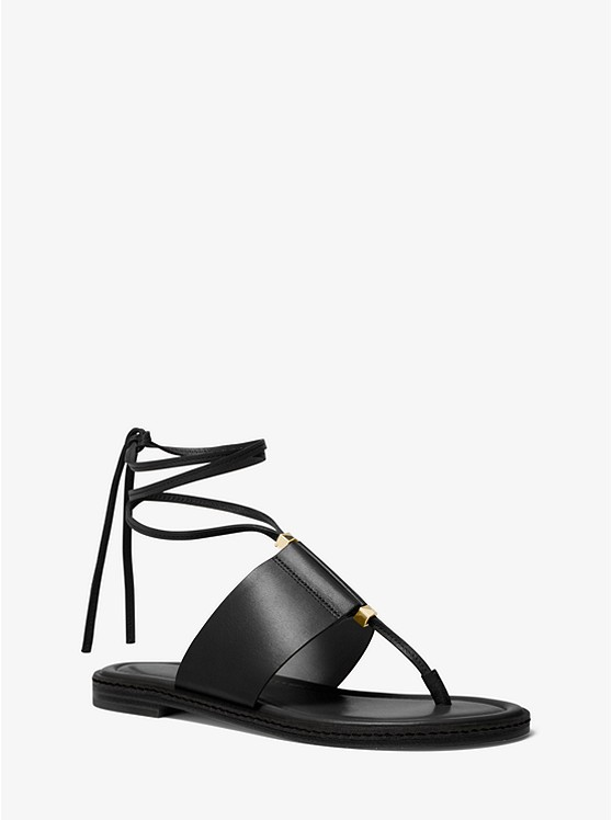 Marlon Leather Lace-Up Sandal | Michael Kors