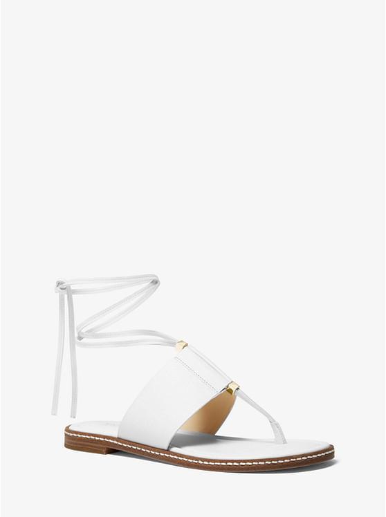 Marlon Leather Lace-Up Sandal | Michael Kors