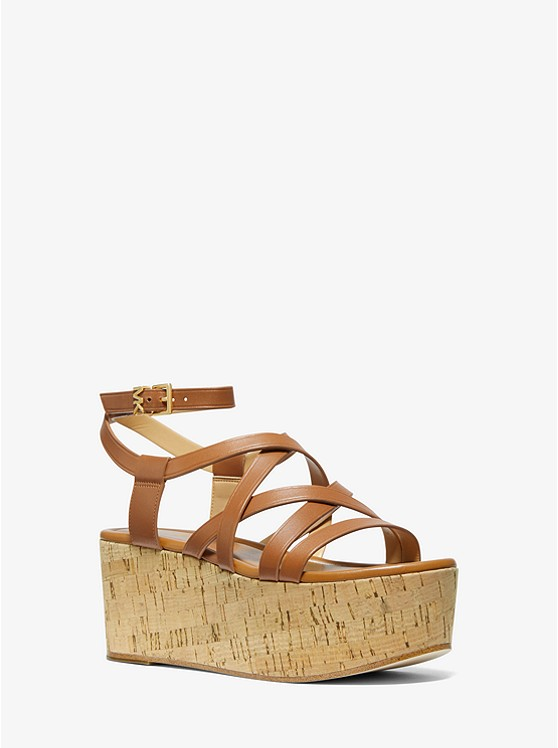 Marlon Leather Wedge Sandal | Michael Kors