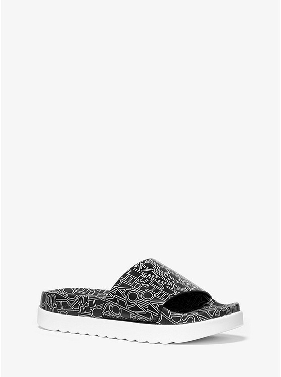 Tyra Graphic Logo Slide Sandal | Michael Kors