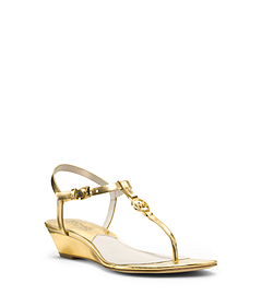 Nora Metallic Leather Wedge Sandal