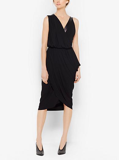 Asymmetric Jersey and Plongé Dress by Michael Kors