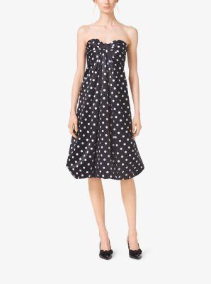 Polka-Dot Silk-Satin Bow Dress by Michael Kors