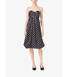 Polka-Dot Silk-Satin Bow Dress by Michael Kors