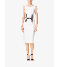 Boatneck Stretch Bouclé-Crepe Sheath Dress by Michael Kors