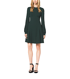 Crepe Sablé Cady Mini Flare Dress
