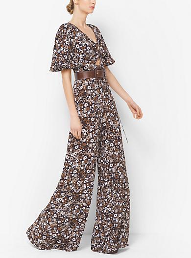 Floral Silk-Georgette Jumpsuit by Michael Kors