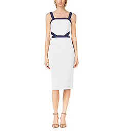 Double-Crepe Sable Cutout Dress by Michael Kors