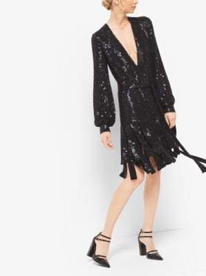Sequin-Embroidered Silk-Georgette Streamer Dress by Michael Kors