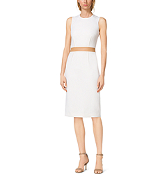 Bouclé-Crepe Sheath Dress by Michael Kors