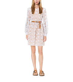 Crystal-Embroidered Floral Organza Dress by Michael Kors