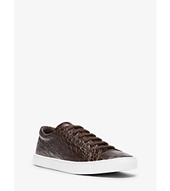 Jake Embossed-Leather Sneaker  by Michael Kors