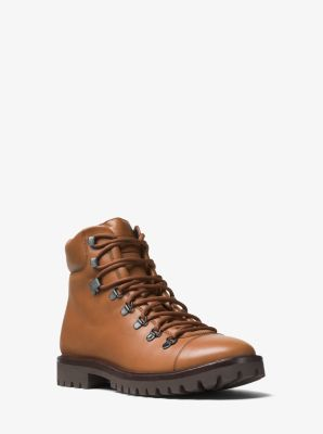 Lance Leather Hiking Boot by Michael Kors