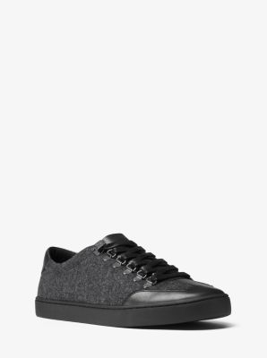 Smith Flannel and Leather Sneaker  by Michael Kors