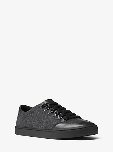Sneaker Smith aus Flanell und Leder by Michael Kors