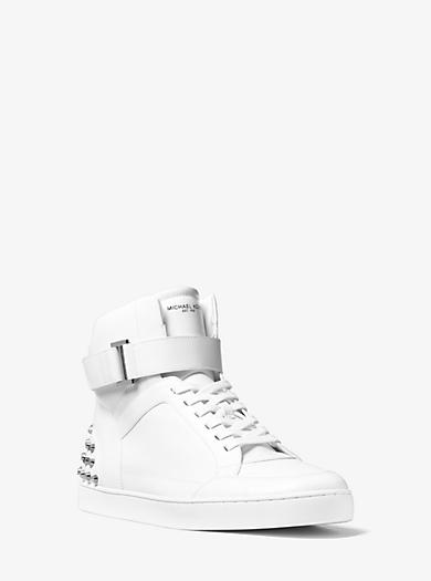 Knöchelhoher Sneaker Anthony aus Leder mit Nietenbesatz by Michael Kors