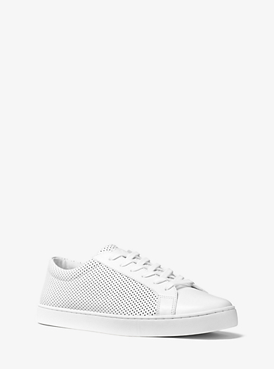Jake Perforated Leather Sneaker by Michael Kors