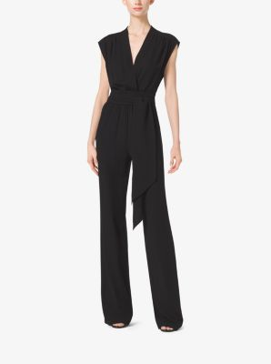Tie-Waist Silk-Georgette Jumpsuit by Michael Kors