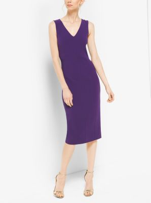 Double-Face Silk and Wool Sheath Dress by Michael Kors