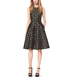 Bouquet Silk-Jacquard Dress by Michael Kors