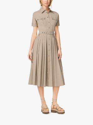 Cotton-Poplin Shirtdress by Michael Kors