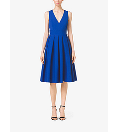 Pleated Cotton-Poplin Dress by Michael Kors