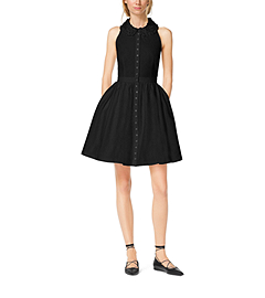 Embroidered Cotton-Poplin Shirtdress by Michael Kors