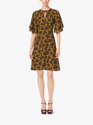 Paisley Silk-Georgette Dress by Michael Kors