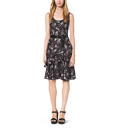 Floral-Print Silk-Twill Dress by Michael Kors