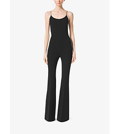 Stretch Wool-Crepe Racerback Jumpsuit  by Michael Kors