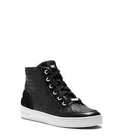 Breck Embossed-Leather Sneaker