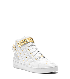 Essex Studded Quilted Leather High-Top Sneaker