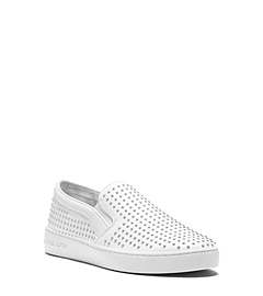 Krista Micro-Stud Leather Slip-On Sneaker