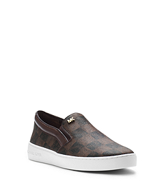 Keaton Logo Checkerboard Slip-On Sneaker