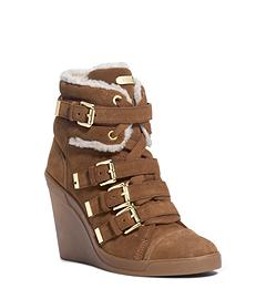 Lizzie Suede Wedge Sneaker