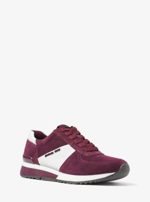 Allie Suede and Saffiano Leather Sneaker by Michael Kors
