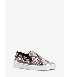 Kyle Embossed-Leather Slip-On Sneaker by Michael Kors