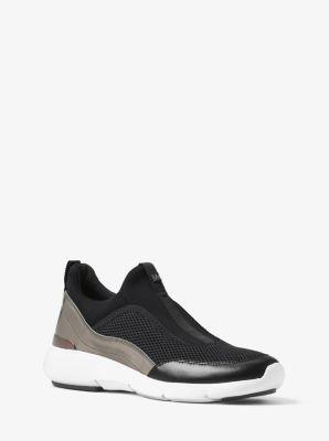 Ace Metallic-Trimmed Scuba Sneaker by Michael Kors