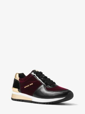 Allie Leather-Trim Sneaker by Michael Kors