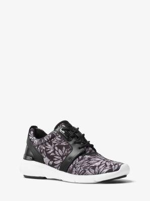 Amanda Printed Mesh and Leather Sneaker by Michael Kors