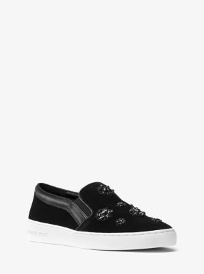 Keaton Crystal-Encrusted Slip-On Sneaker by Michael Kors
