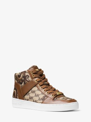 Matty High-Top Heritage Paisley Sneaker by Michael Kors